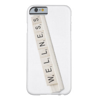 Wellness Spelled On A Word Board Game. Barely There iPhone 6 Case