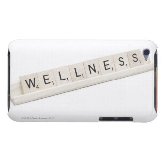 Wellness Spelled On A Word Board Game. Barely There iPod Covers