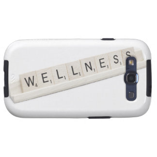 Wellness Spelled On A Word Board Game. Galaxy S3 Cover