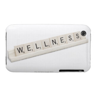 Wellness Spelled On A Word Board Game. iPhone 3 Case-Mate Case