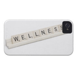 Wellness Spelled On A Word Board Game. iPhone 4 Case