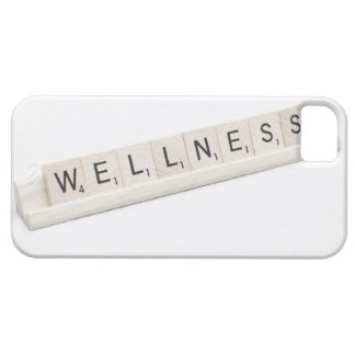 Wellness Spelled On A Word Board Game. iPhone 5 Covers