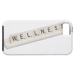 Wellness Spelled On A Word Board Game. iPhone SE/5/5s Case