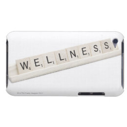 Wellness Spelled On A Word Board Game. iPod Case-Mate Case