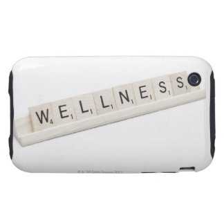 Wellness Spelled On A Word Board Game. Tough iPhone 3 Cover
