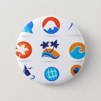 WELLNESS TRAVEL ICONS EDITION PINBACK BUTTON