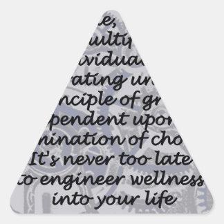 wellness triangle sticker