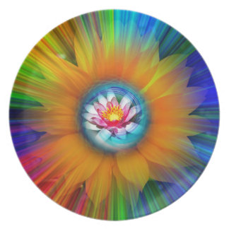 Wellness Water Lily - Sunflower Party Plates