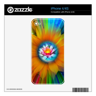 Wellness Water Lily - Sunflower iPhone 4S Decals