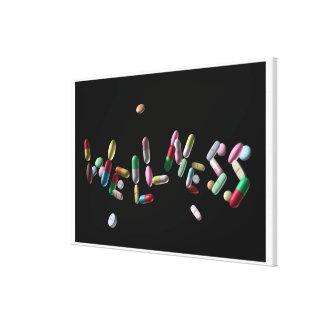 'WELLNESS' written with pills Canvas Print