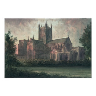 Wells Cathedral: view from the South-east Poster