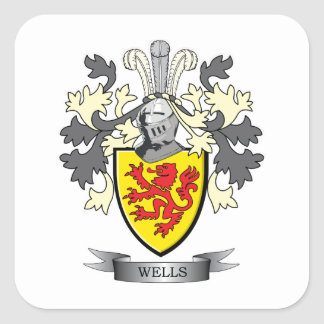 Wells Coat of Arms Square Sticker