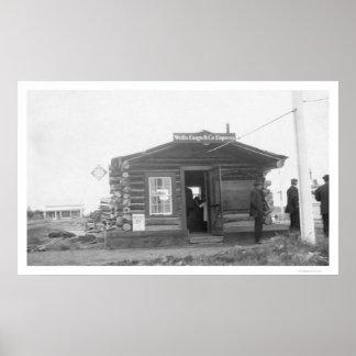 Wells Fargo Tanana Alaska 1909 Póster