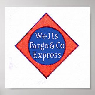 Wells Fargo y poster expreso de la compañía