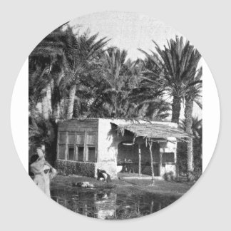 Wells of Moses, east of the Suez Canal, ca. 1902 Classic Round Sticker