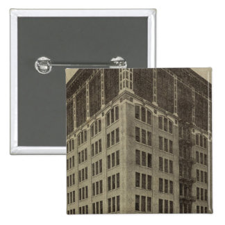 WellsFargo Bldg, Portland, Oregon Pinback Button