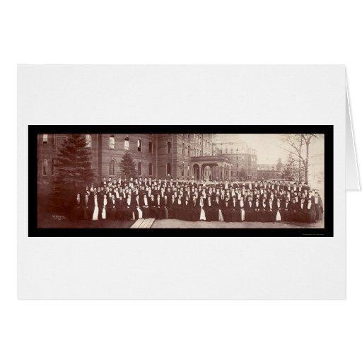 Wellsley Graduates Photo 1903 Greeting Card