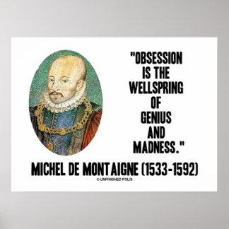 Wellspring Genius Madness de Montaigne de la Póster