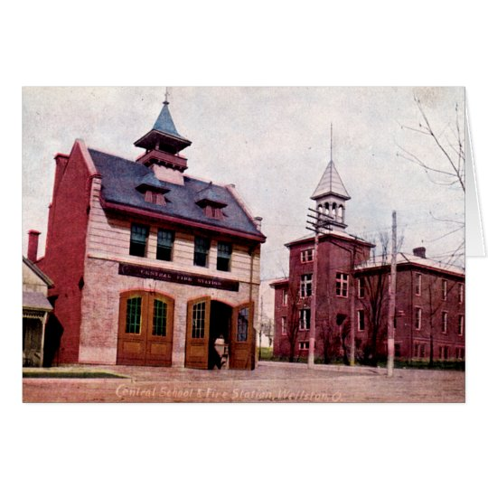 Wellston Ohio Central School and Fire Station Card