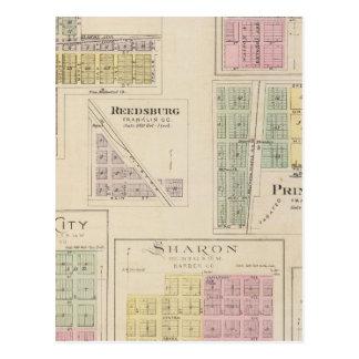 Wellsville, Emmerson, Reedsburg, Princeton, Kansas Postcard