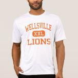 Wellsville - leones - alto - Wellsville Nueva York Playera