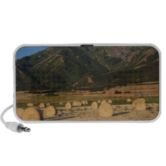 Wellsville Mountains and Hay Bales iPhone Speaker