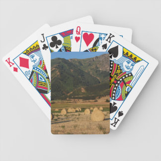 Wellsville Mountains and Hay Bales Playing Cards
