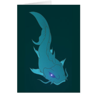 Wels catfish greeting cards