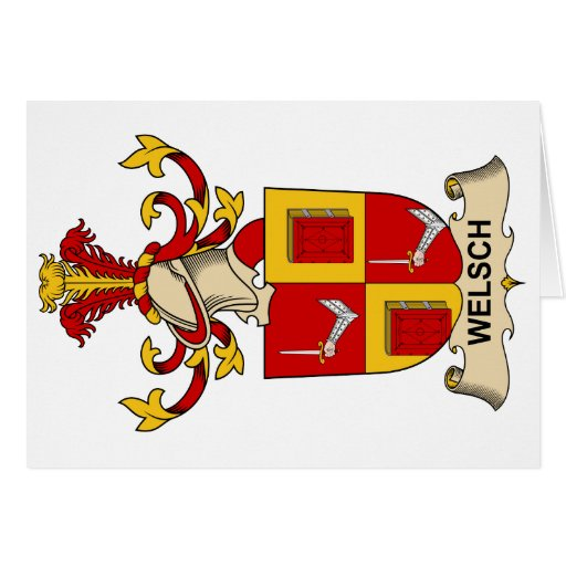 Welsch Family Crest Greeting Card