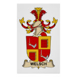Welsch Family Crest Posters