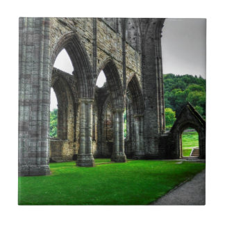 Welsh Abbey at Tintern, Monmouthshire, Wales Tile