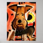 Welsh/ Airedale Terrier  dk_2005aug8d Print