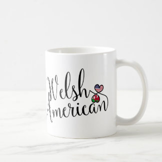 Welsh American Entwined Hearts Mug