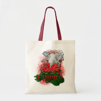 Welsh Bag With Red Dragon Cymru And Map
