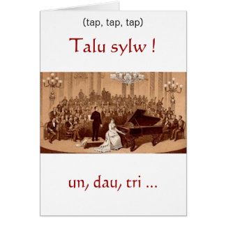 Welsh Birthday Concert Card