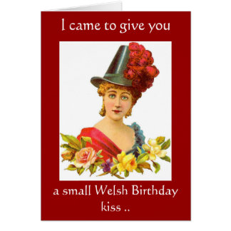 Welsh Birthday Kiss Card