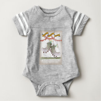welsh boots baby bodysuit
