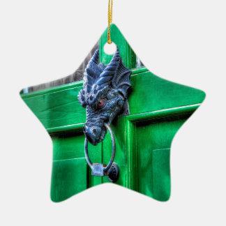 Welsh Cast Iron Dragon Head Door-knocker Ceramic Ornament