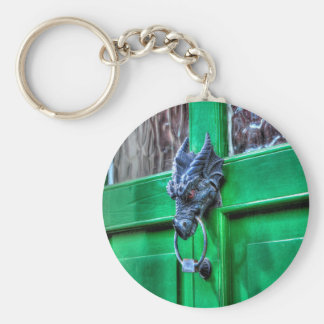 Welsh Cast Iron Dragon Head Door-knocker Keychain