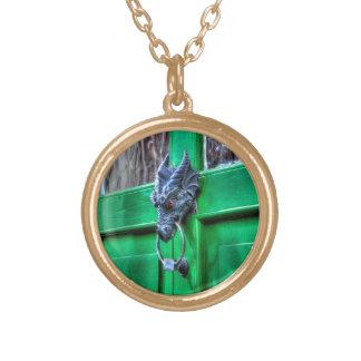 Welsh Cast Iron Dragon Head Door-knocker Custom Necklace