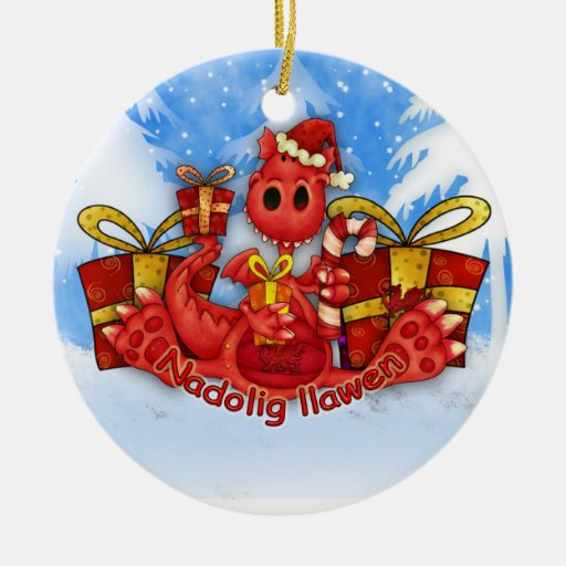 Welsh Christmas Ornament - Welsh Dragon