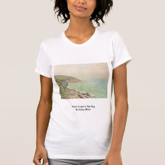 Welsh Coast In The Fog By Sisley Alfred T Shirts