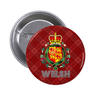 Welsh Coat of Arms 2 Inch Round Button