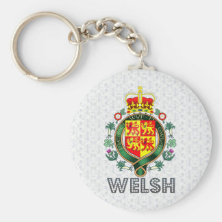 Welsh Coat of Arms Basic Round Button Keychain
