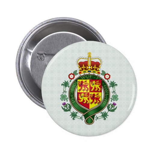 Welsh Coat of Arms detail 2 Inch Round Button