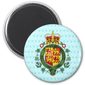 Welsh Coat of Arms detail 2 Inch Round Magnet