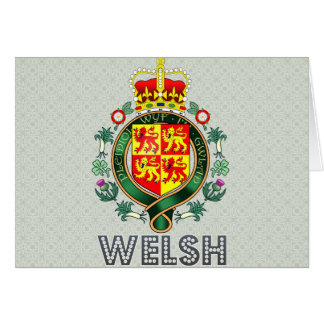 Welsh Coat of Arms Greeting Card