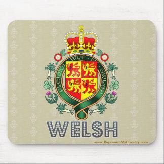 Welsh Coat of Arms Mouse Pad