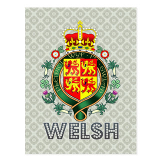 Welsh Coat of Arms Postcard