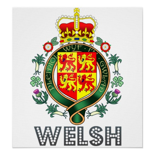 Welsh Coat of Arms Posters